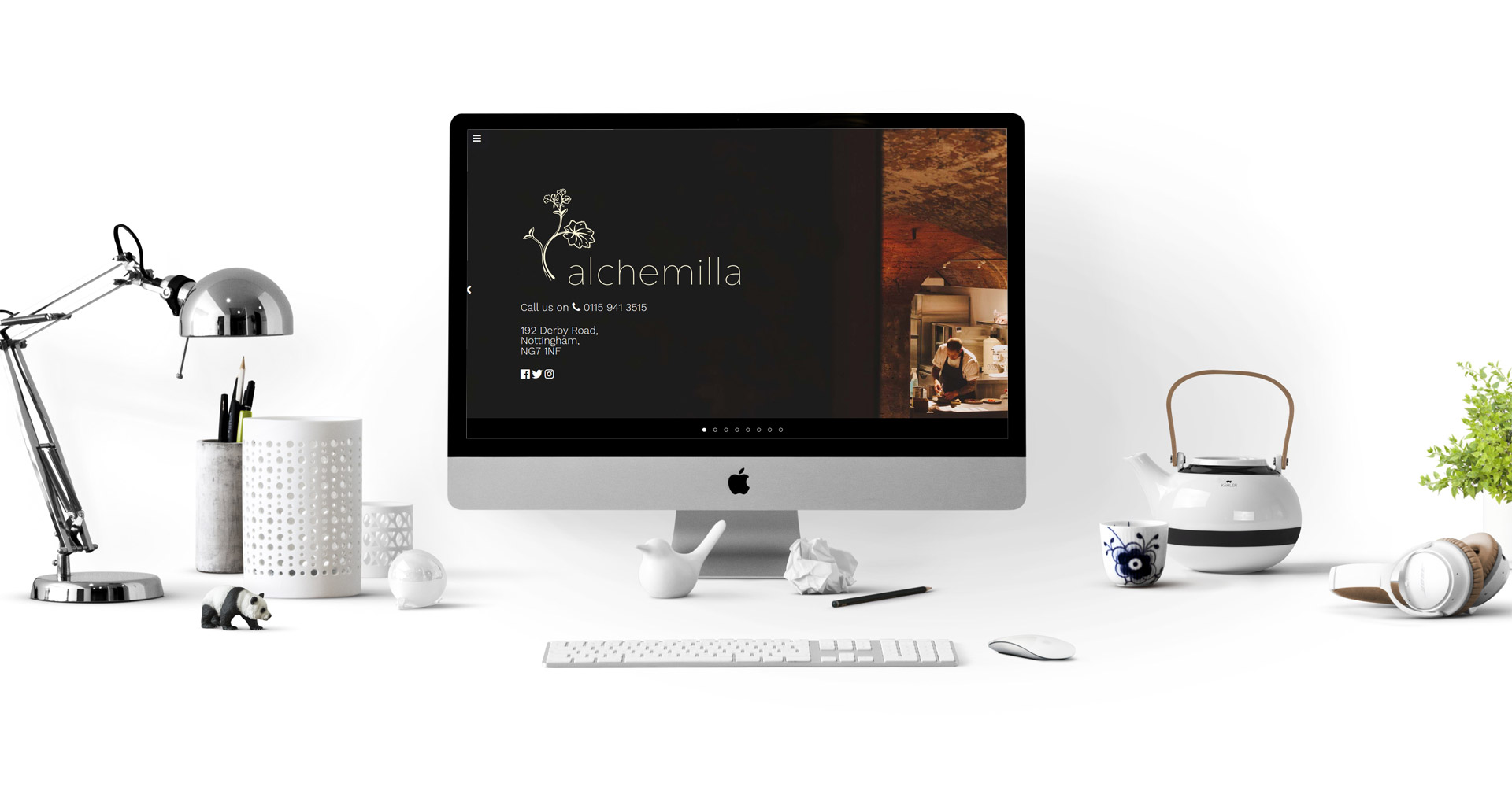 Alchemilla Restaurant Nottingham - website designed and developed by Fifteen IT Ltd